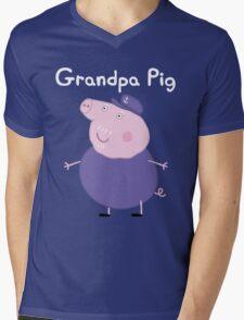 Grandpa Pig Mens V-Neck T-Shirt