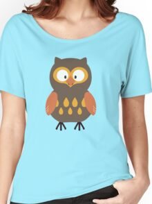 Brown Pumpkin Owl Women's Relaxed Fit T-Shirt