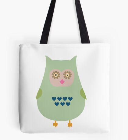 Fat green owl Tote Bag
