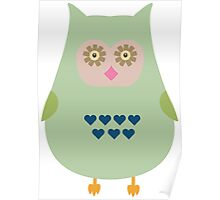 Fat green owl Poster