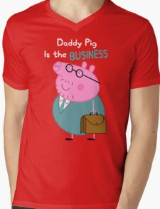 Daddy Pig Is the Business Mens V-Neck T-Shirt