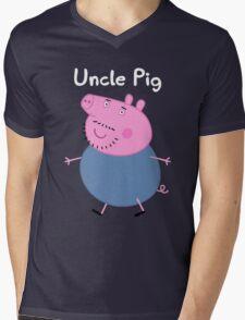 Uncle Pig Mens V-Neck T-Shirt