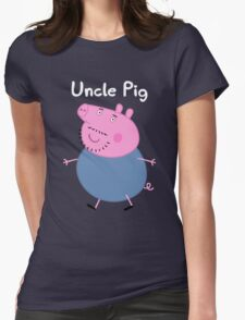 Uncle Pig Womens Fitted T-Shirt
