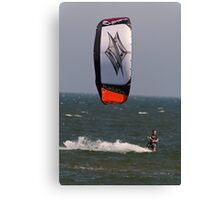 Riding the North Sea Canvas Print