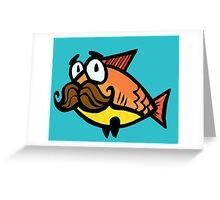 Mustache Fish Greeting Card