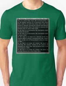 Dwarf Fortress Shirt Artifact GREEN ONLY T-Shirt