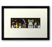 Bucky Heard that Corn Would Be in Abundance at Their Party Framed Print