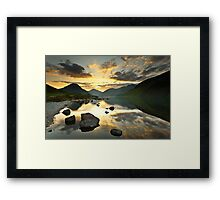 Reflections on Wastwater Framed Print