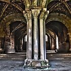 Kirkstall Abbey Cloister by AttiPhotography