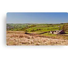 Silsden barn landscape Canvas Print