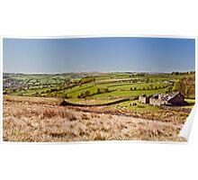 Silsden barn landscape Poster