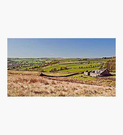 Silsden barn landscape Photographic Print