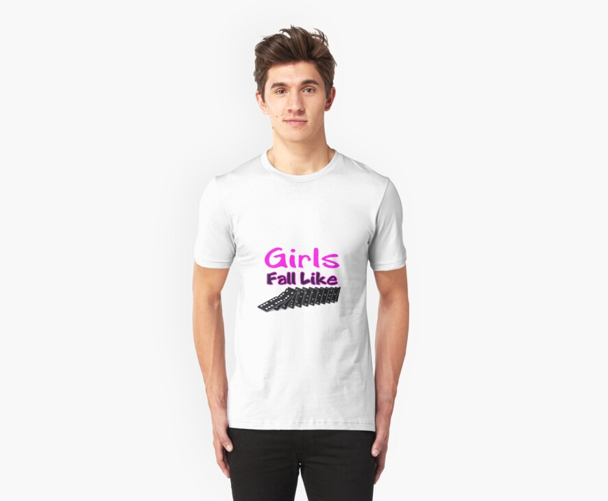 Nicki Minaj Girls Fall Like Dominoes T-shirt by PAGraphics