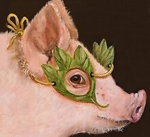 Pig Masquerade by Vicki Sawyer