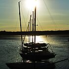 Low Light at Beadnell Harbour by Ladymoose