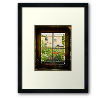 Through the Window Framed Print