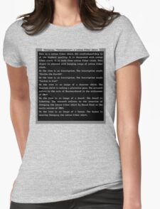 Dwarf Fortress Shirt Artifact Womens Fitted T-Shirt