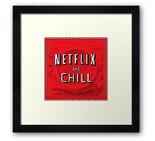 Netflix and chill - condom Framed Print