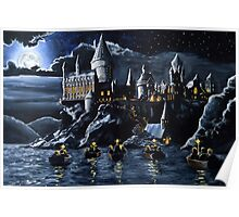 Hogwarts by night Poster