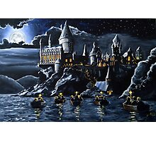 Hogwarts by night Photographic Print