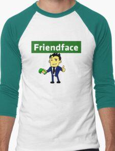 The IT Crowd – Friendface – Meet New Friends Men's Baseball ¾ T-Shirt