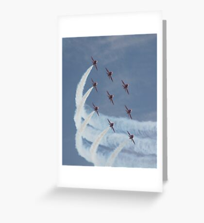 Red Arrows 5 Greeting Card