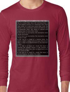 Dwarf Fortress Shirt Artifact RED ONLY Long Sleeve T-Shirt