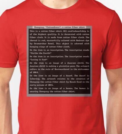 Dwarf Fortress Shirt Artifact RED ONLY Unisex T-Shirt
