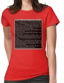 Dwarf Fortress Shirt Artifact RED ONLY Womens Fitted T-Shirt