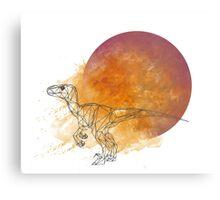Poly Velociraptor Metal Print