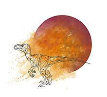 Poly Velociraptor Photographic Print