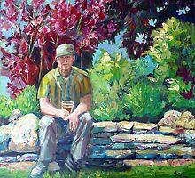 Jim in Heritage Centre Garden by Saga Sabin