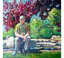 Jim in Heritage Centre Garden Photographic Print