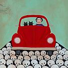 Frida and Cats Road Trip by Ryan Conners