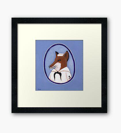 Foxy Sailor Framed Print