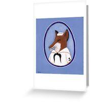 Foxy Sailor Greeting Card