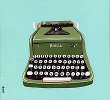 Green Royal Typewriter by Ryan Conners