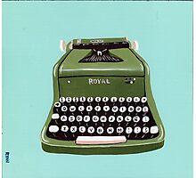 Green Royal Typewriter Photographic Print