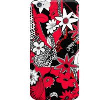 Tangled Collage 1 in Red Black and White iPhone Case/Skin