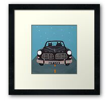 Black Volvo Amazon Framed Print