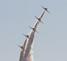 Pile Them High - The Red Arrows by JenMetcalf