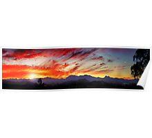sunset panorama - tweed valley  Poster