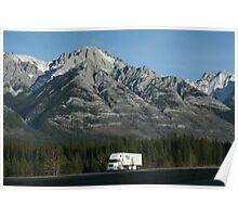 Lonesome Truck, Alberta, Canadian Rockies Poster