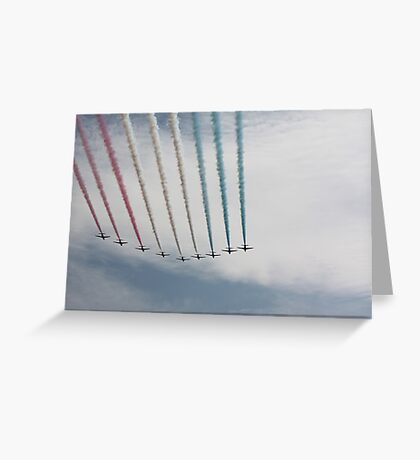 Red Arrows 17 Greeting Card