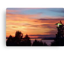 Sunset at the Hotel Canvas Print
