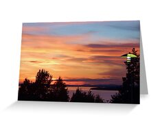 Sunset at the Hotel Greeting Card