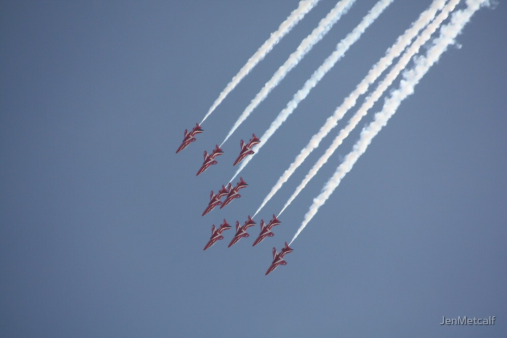 Red Arrows 18 by JenMetcalf