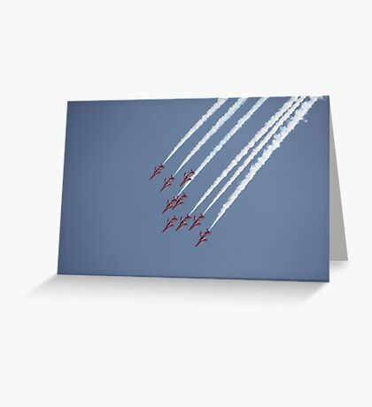 Red Arrows 18 Greeting Card