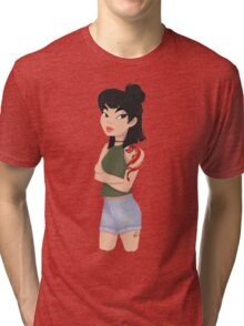 A Girl Worth Fighting For Tri-blend T-Shirt