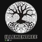 Illementree Logo Merch 2 - solid white flower by VII23